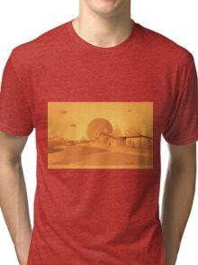 orange Mars Tri-blend T-Shirt