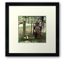 Bushman letterbox Framed Print