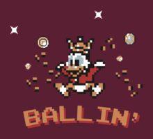 Scrooge McDuck, ballin' - 8bit T-Shirt