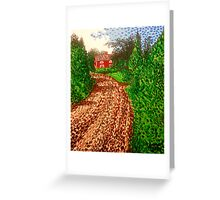 The Red House in Finland Greeting Card