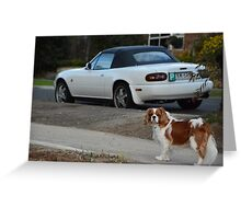 Princess and the Car Greeting Card