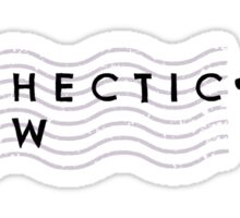 The hectic glow Sticker