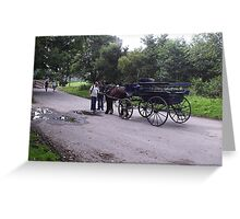 Jarvey at Ross Castle Killarney County Kerry Ireland Greeting Card