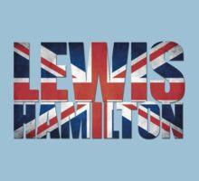 Lewis Hamilton - British Flag Kids Tee