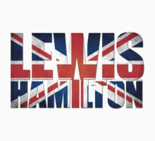 Lewis Hamilton - British Flag Kids Tee