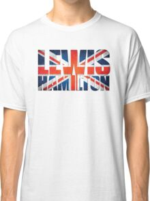 Lewis Hamilton - British Flag Classic T-Shirt