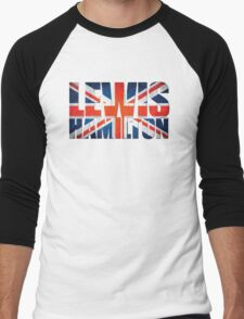 Lewis Hamilton - British Flag Men's Baseball ¾ T-Shirt