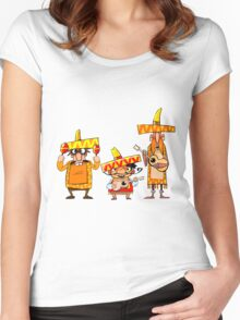 Mexican musicians Women's Fitted Scoop T-Shirt