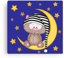 Cat moon dream Canvas Print