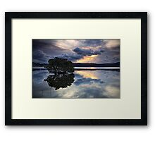 Reflections at Days End Framed Print