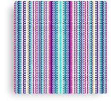 Bright Colorful Tiny Abstract Zigzag Pattern Canvas Print