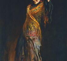 Leopold Schmutzler (Austrian, 1864-1941), The Flamenco Dancer by Adam Asar
