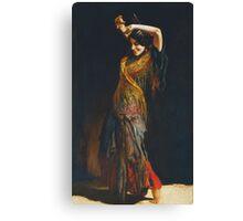 Leopold Schmutzler (Austrian, 1864-1941), The Flamenco Dancer Canvas Print