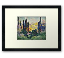 Les cyprès à Cagnes, or Cypresses at Cagnes, 1908, by Henri-Edmond Cross Framed Print