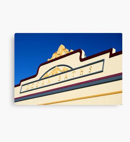 Newcastle Baths Art Deco Facade Canvas Print