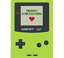 Gameboy Christmas Photographic Print