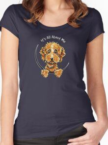 Cockapoo Tan IAAM Women's Fitted Scoop T-Shirt