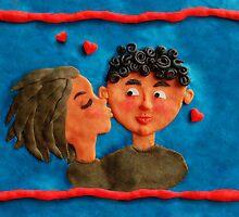 a kiss by Anastasiia Kucherenko