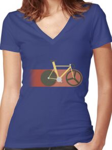 Red Track Women's Fitted V-Neck T-Shirt
