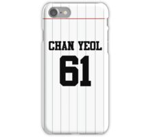 EXO Chanyeol Baseball Jersey  iPhone Case/Skin