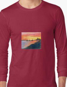 Three Ships at Sunset 2 Long Sleeve T-Shirt
