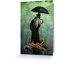 getting wet Greeting Card