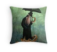 getting wet Throw Pillow