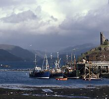 Fishing Boats at Kyle of Lochalsh. by Peter Stephenson
