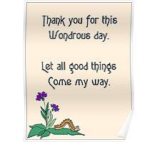 Wondrous Day Poster