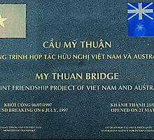 Friendship Bridge, Mekong Area of Viet Nam by Bev Pascoe