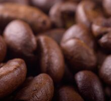 Coffee beans background by MartinCapek