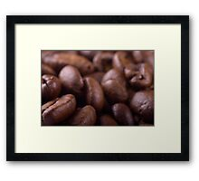 Coffee beans background Framed Print