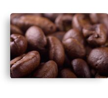 Coffee beans background Canvas Print