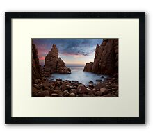 Dusk at the Pinnacles Framed Print