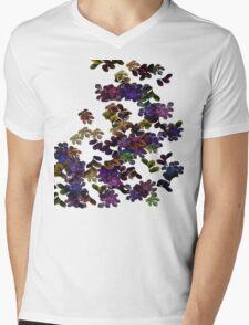 Florals Mens V-Neck T-Shirt