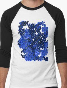 Blue Field Men's Baseball ¾ T-Shirt