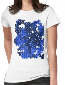 Blue Field Womens Fitted T-Shirt