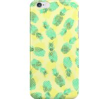 Neon Yellow and Green Tropical Hawaiian Pineapples iPhone Case/Skin