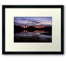 Rocky Mountain Dawn Reflections Framed Print