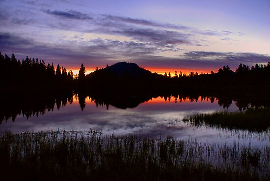 Rocky Mountain Dawn Reflections by Stephen Vecchiotti