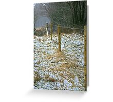 The snow fence Greeting Card