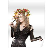 bellatrix with flower crown Poster