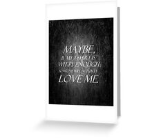 manic-depressant black Greeting Card
