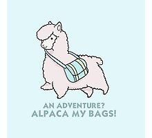 Alpaca my bags! Photographic Print
