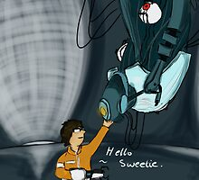 Dan And Glados by MoombaTroopa
