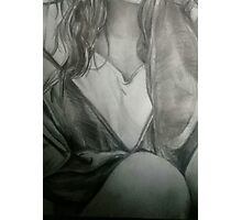 Detailed Female Sketch  Photographic Print