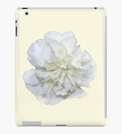 Single White Carnation - Hipster/Pretty/Trendy Flowers iPad Case/Skin