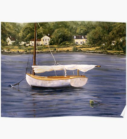 """ Mystic River Sailboat "" Poster"