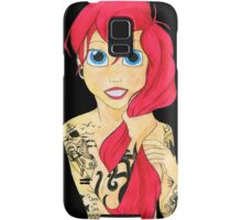 Tattooed Ariel (cutout) - pink hair Samsung Galaxy Case/Skin