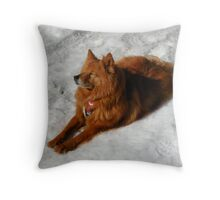 'Cindy in Maine; Eagle Lake 2' Throw Pillow